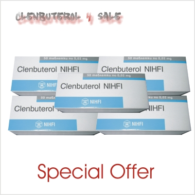 Clenbuterol 5 boxes 250 tabs